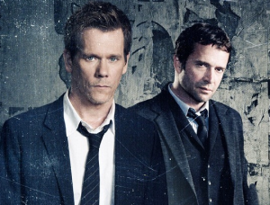 Kevin Bacon and James Purefoy of The Following