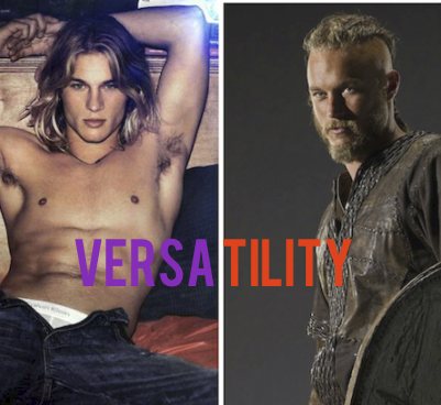 Sometime Calvin Klein model, sometime bloodthirsty Viking Ragnar  Lodbrok