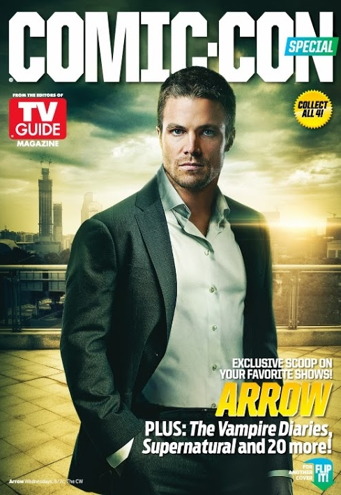 Stephen Amell of Arrow on TV Guide Comic Con Edition Cover!