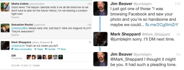 It's entirely possible that Mark Sheppard is actually the King of Hell IRL.