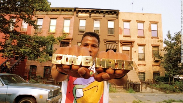 Radio Raheem in Do The Right Thing, which takes place in Bed-Stuy.